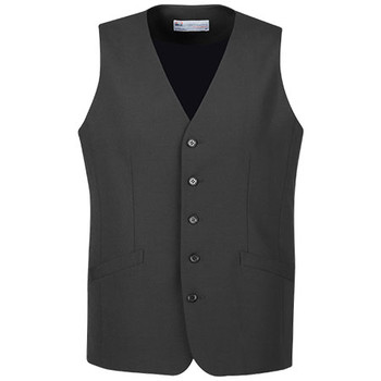 Charcoal - 94012 Mens Longline Vest - Biz Corporates