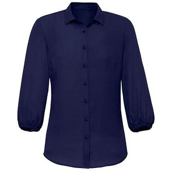 Navy - RB965LT Womens Lucy 3/4 Sleeve Blouse - Biz Corporates