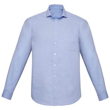 Blue Chambray - RS968ML Mens Charlie Classic Fit L/S Shirt - Biz Corporates
