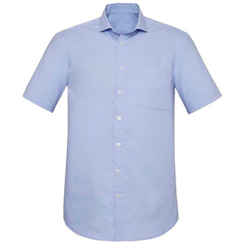 Blue Chambray - RS968MS Mens Charlie Classic Fit S/S Shirt - Biz Corporates