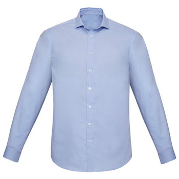 Blue Chambray - RS969ML Mens Charlie Slim Fit L/S Shirt - Biz Corporates