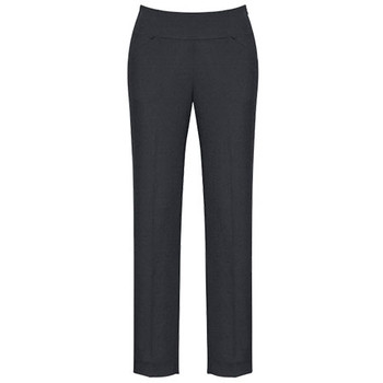 Charcoal - 10121 Womens Bandless Slim Leg Pant - Biz Corporates