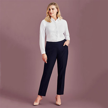 10721 Womens Bandless Slimline Pant - Biz Corporates