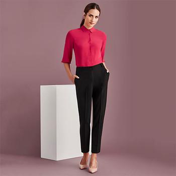 10722 Womens Bandless Elastic Waist Pant - Biz Corporates