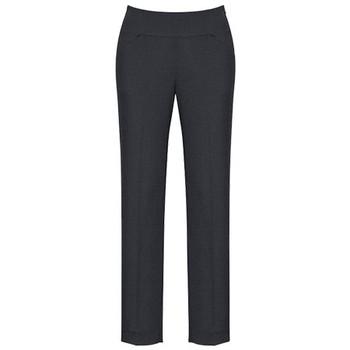 Charcoal - 14021 Womens Bandless Slim Leg Pant - Biz Corporates