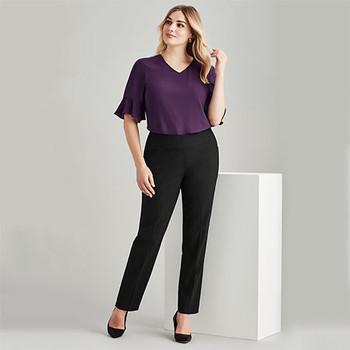 14021 Womens Bandless Slim Leg Pant - Biz Corporates