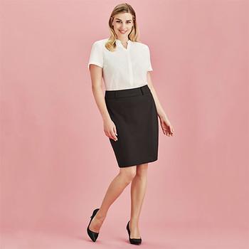 20640 Womens Skirt with Rear Split - Biz Corporates