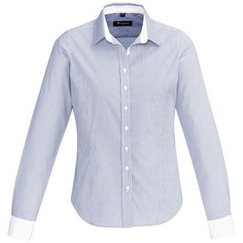 Patriot Blue - 40110 Womens Fifth Avenue Long Sleeve Shirt - Biz Corporates