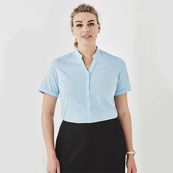 40112 Womens Bordeaux Short Sleeve Shirt - Biz Corporates