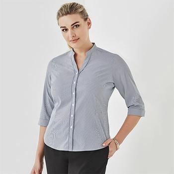 40114 Womens Bordeaux 3/4 Sleeve Shirt - Biz Corporates