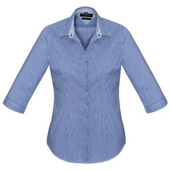 French Navy - 42511 Womens Newport 3/4 Sleeve Shirt - Biz Corporates