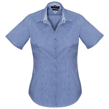 French Navy - 42512 Womens Newport Short Sleeve Shirt - Biz Corporates
