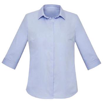 Blue Chambray - RS968LT Womens Charlie 3/4 Shirt - Biz Corporates