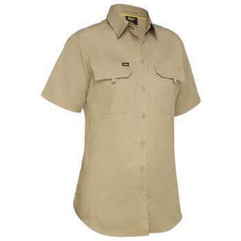 Khaki - BL1414 Womens X Airflow Ripstop Shirt - Bisley