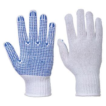 White-Blue - A111 Classic Polka Dot Glove - Portwest