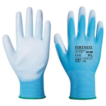 Blue - A120 PU Palm Glove - Portwest