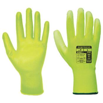 Yellow - A120 PU Palm Glove - Portwest