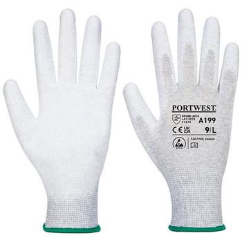 Grey - A199 Antistatic PU Palm Glove - Portwest