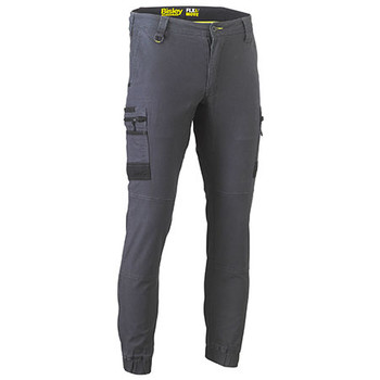 Charcoal - BPC6334 Flex and Move Stretch Cargo Cuffed Pants - Bisley