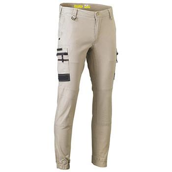 Stone - BPC6334 Flex and Move Stretch Cargo Cuffed Pants - Bisley