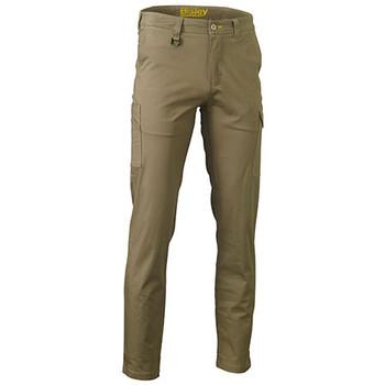 Khaki - BPC6008 Stretch Cotton Drill Pants - Bisley