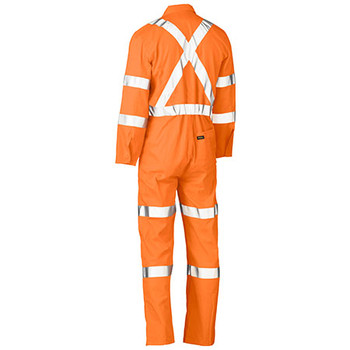 BC6316XT X Taped Biomotion Hi Vis Lightweight Coverall - Bisley