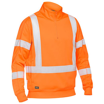 Rail Orange - BK6814XT X Taped Hi Vis 1 4 Zip Pullover - Bisley