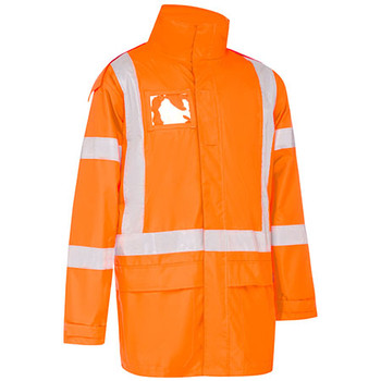 Rail Orange - BJ6968XT X Taped Shell Rain Jacket - Bisley