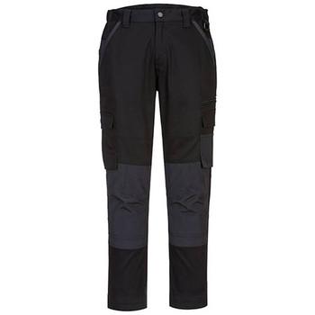 Black - LP402 Ladies Stretch Slim Fit Trade Pants - Portwest