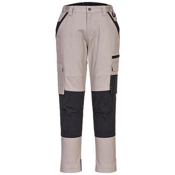 Sand - LP402 Ladies Stretch Slim Fit Trade Pants - Portwest