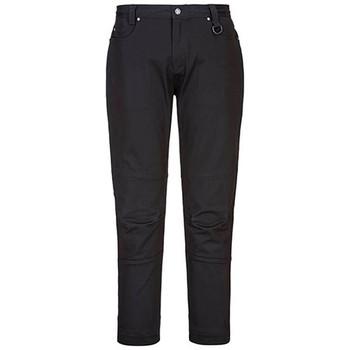 Black - LP401 Ladies Stretch Slim Fit Work Pant - Portwest