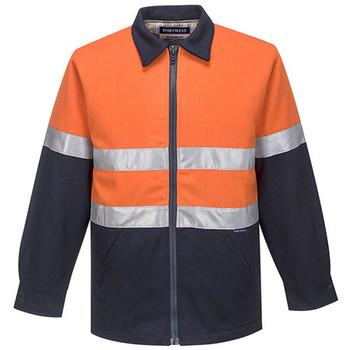 Orange-Navy - MW028 Wool Blend Bluey Jacket - Portwest