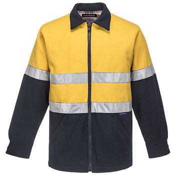 Yellow-Navy - MW028 Wool Blend Bluey Jacket - Portwest