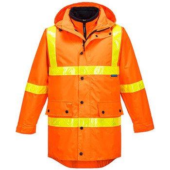 Orange - MJ885 Squizzy Day-Night 4-in-1 Jacket with Micro Prism Tape - Prime Mover