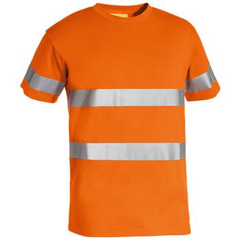 Orange - BK1017T Taped Hi Vis Cotton T-Shirt - Bisley