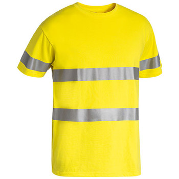Yellow - BK1017T Taped Hi Vis Cotton T-Shirt - Bisley