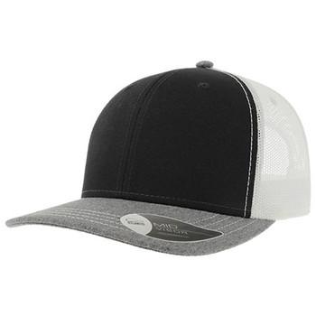 Black-Grey Melange-White - A2400 Sonic Trucker - Atlantis Headwear