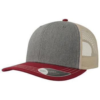 Grey Melange-Cardinal-Beige - A2400 Sonic Trucker - Atlantis Headwear