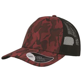 Camo Burgundy - A2550 Rapper Camo Cap - Atlantis Headwear