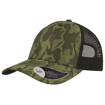 Camo Olive - A2550 Rapper Camo Cap - Atlantis Headwear