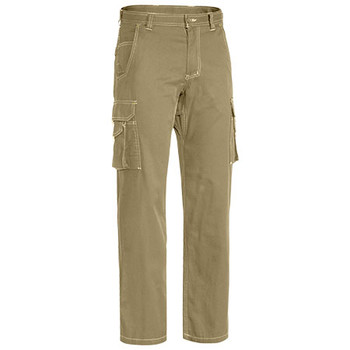 Khaki - BPC6431 Cool Vented Lightweight Cargo Pants - Bisley
