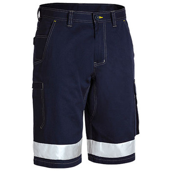 Navy - BSHC1432T Taped Cool Vented Lightweight Cargo Short - Bisley