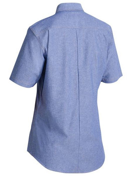 B71407L - Women's Chambray Shirt - Short Sleeve