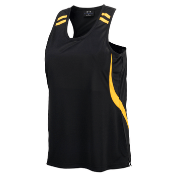 MV3111B - Kids Flash Singlet Black/Gold
