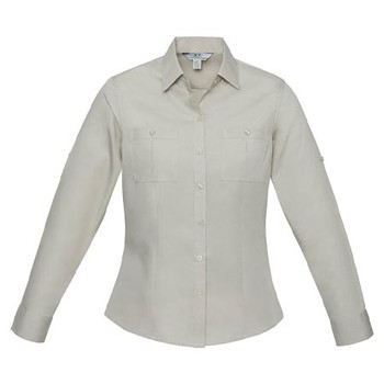 S306LL - Ladies Bondi Long Sleeve Shirt - Sand