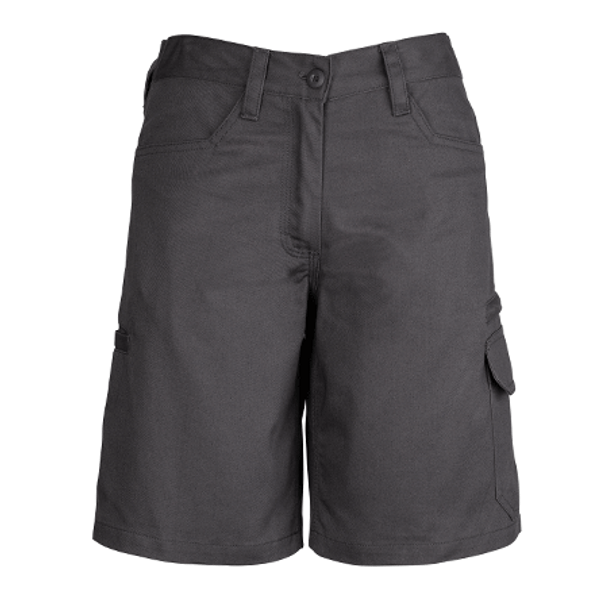 ZWL011 - Womens Plain Utility Short Charcoal Front