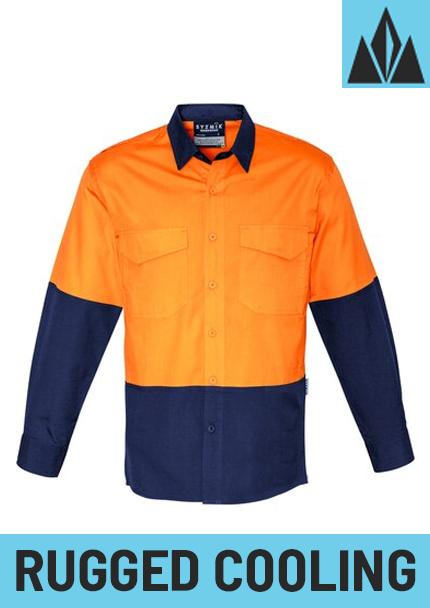 ZW128 - Mens Rugged Cooling Hi Vis Spliced Shirt