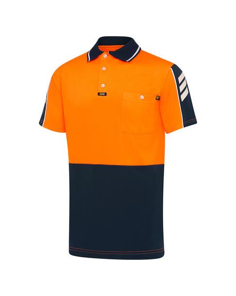 Orange/Navy.White