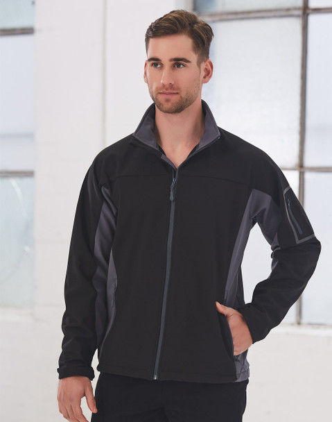 JK31 - Mens Whistler Contrast Softshell Jacket