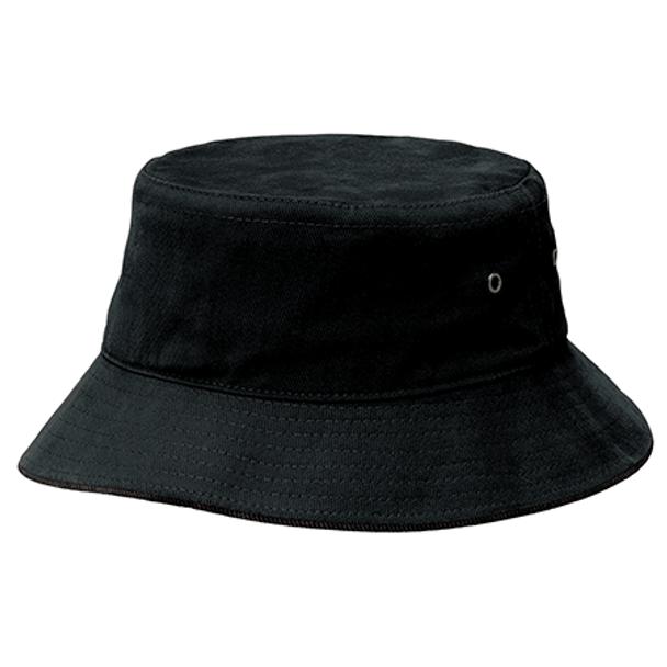 Black-Black - 4007 Sandwich Brim Bucket Hat - Legend